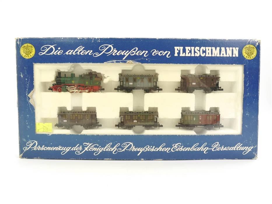 """E339 Fleischmann N 7882 Zugset 6-tlg. Personenzug """"Die alten Preußen"""" K.P.E.V."""