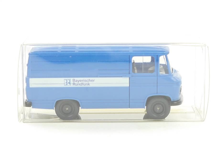 """E332 Wiking H0 Modellauto PKW MB L 406 """"Bayerischer Rundfunk"""" 1:87 *TOP*"""
