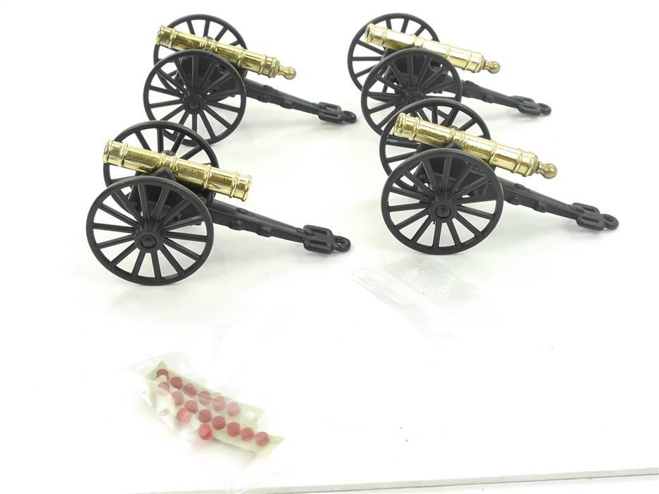 E293 Made Italy Art.: 373 4x Kanone Bürgerkrieg aus Metall mit Funktion