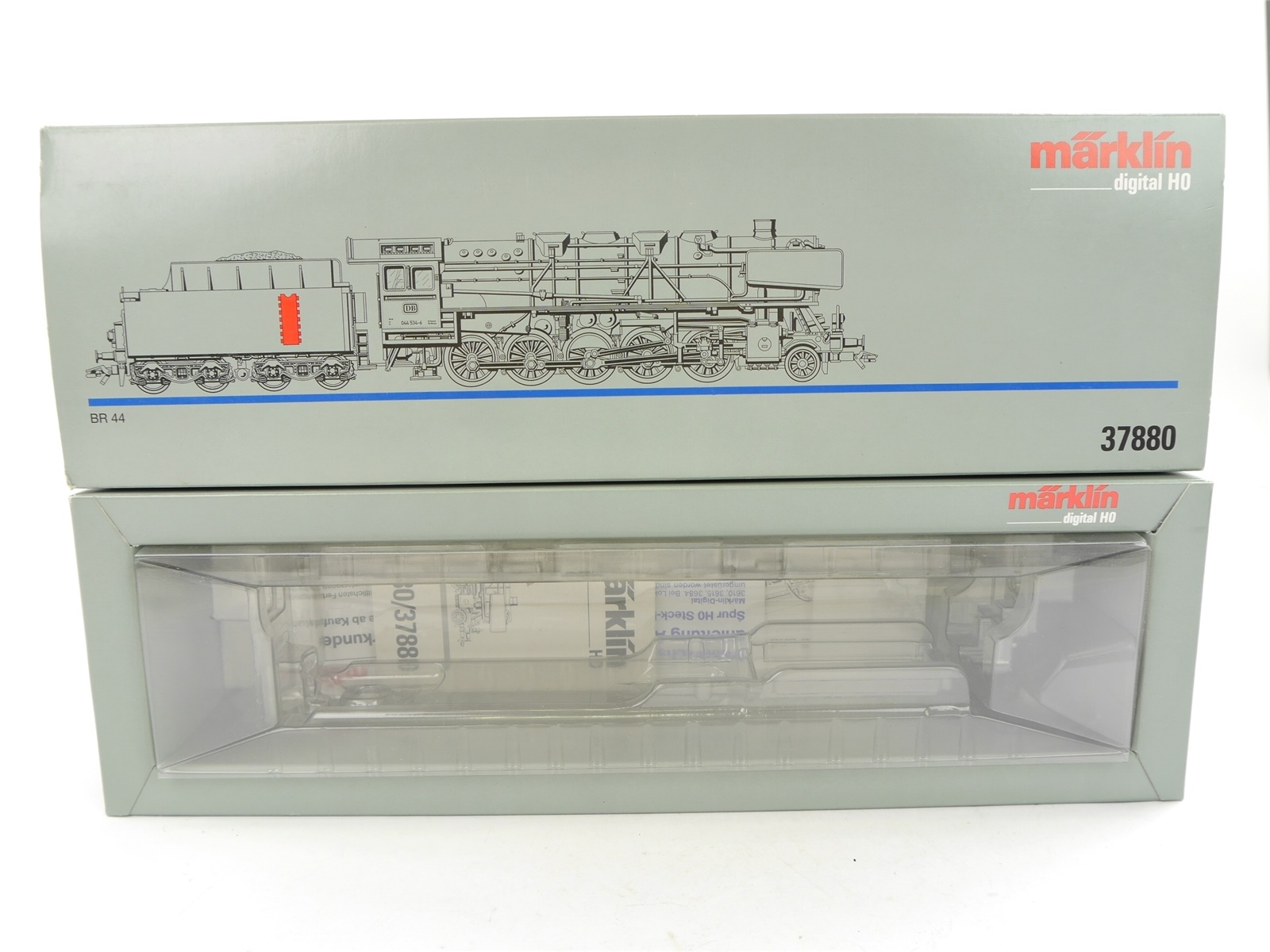 E132 Märklin H0 37880 Leerverpackung Leerkarton OVP für Dampflok BR 044 534-6 DB