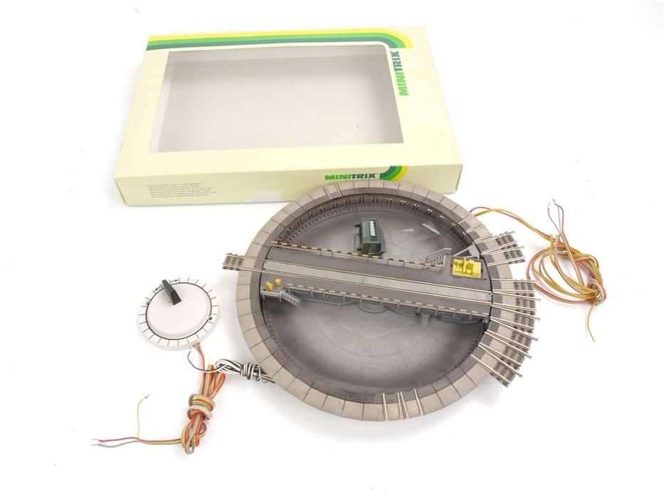 E330 Fleischmann N 9152 elektrische Drehscheibe inkl. Drehschalter *geprüft*