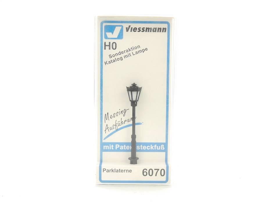 E327 Viessmann H0 6070 Lampe Leuchte Parklaterne mit Steckfuß / geprüft *TOP*