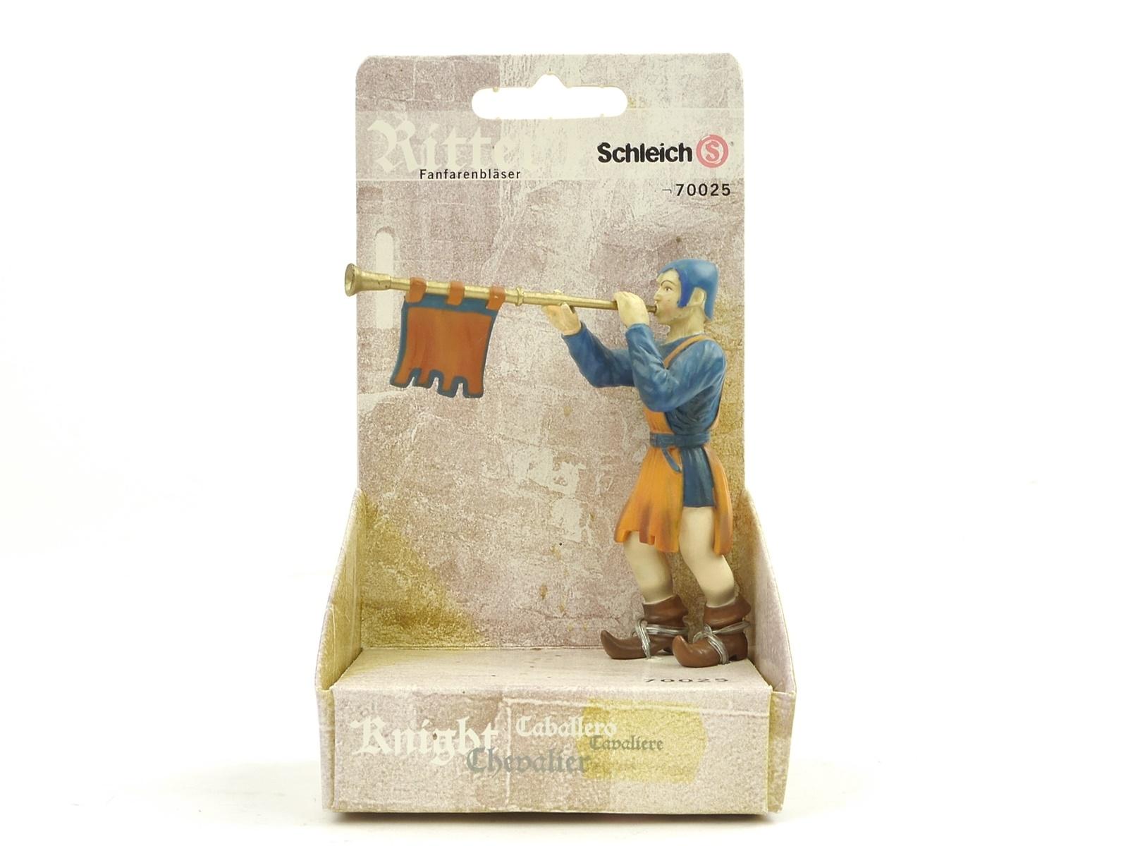 E198 Schleich 70025 Figur Ritter Fanfarenbläser Trompeter Hofwelt