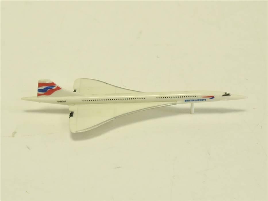 E280 Modellflugzeug Plastikmodell British Airways G-BOAF / ca. 9 cm