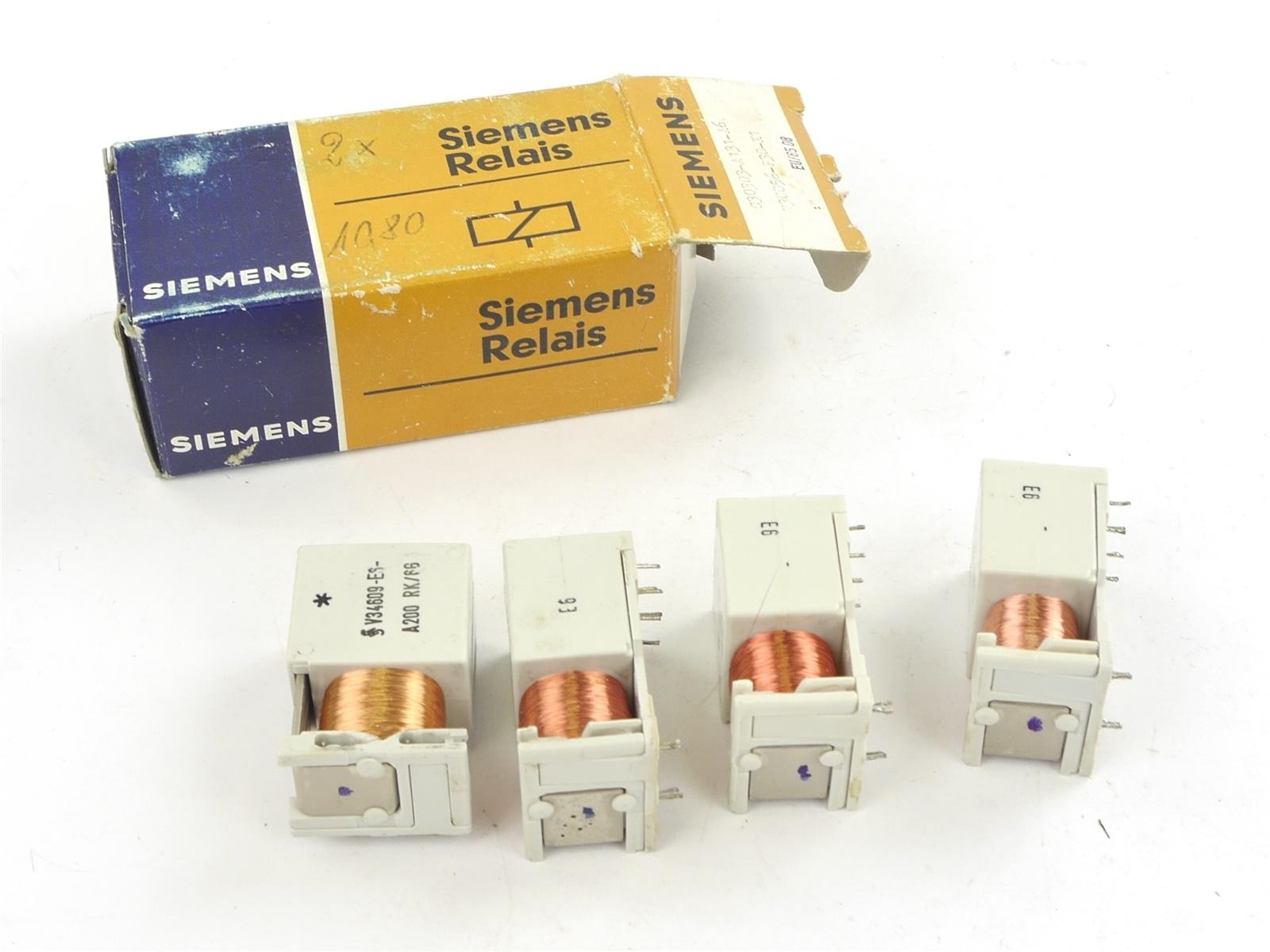 E132 Siemens 4x Relais V34609-E6