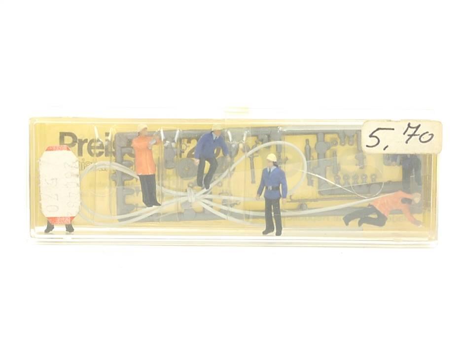 E161 Preiser H0 4200 Figuren-Set 6-tlg. Feuerwehrmänner mit Zubehör *TOP*
