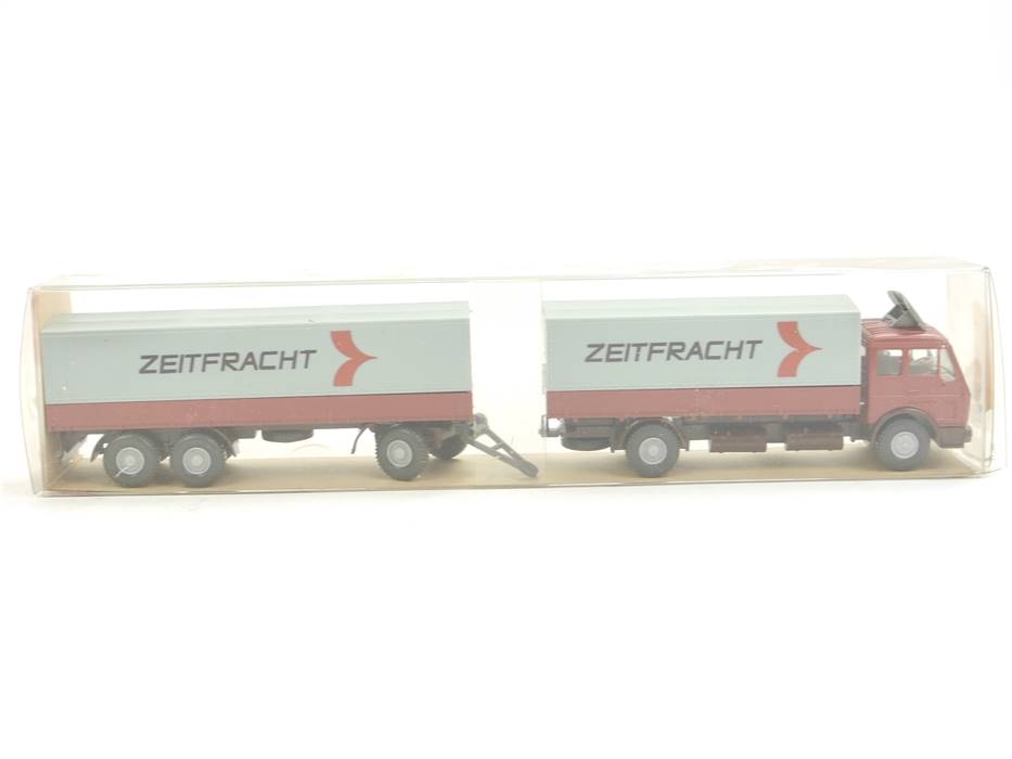 "E169 Wiking H0 455 Modellauto LKW Fernlastzug MB 1632 ""Zeitfracht"" 1:87"