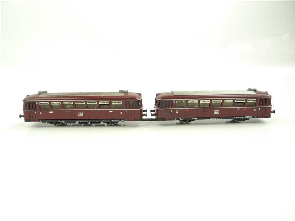 E268 Minitrix N 12980 Dieseltriebzug Schienenbus mit Beiwagen VT/VS 98 DB
