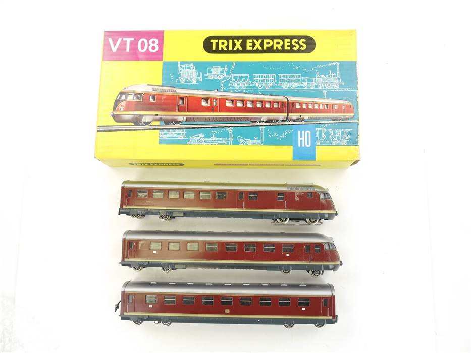 E299 Trix Express H0 2293 2296 Dieseltriebwagenzug 3-tlg. BR VT/VS 08 513 / AC