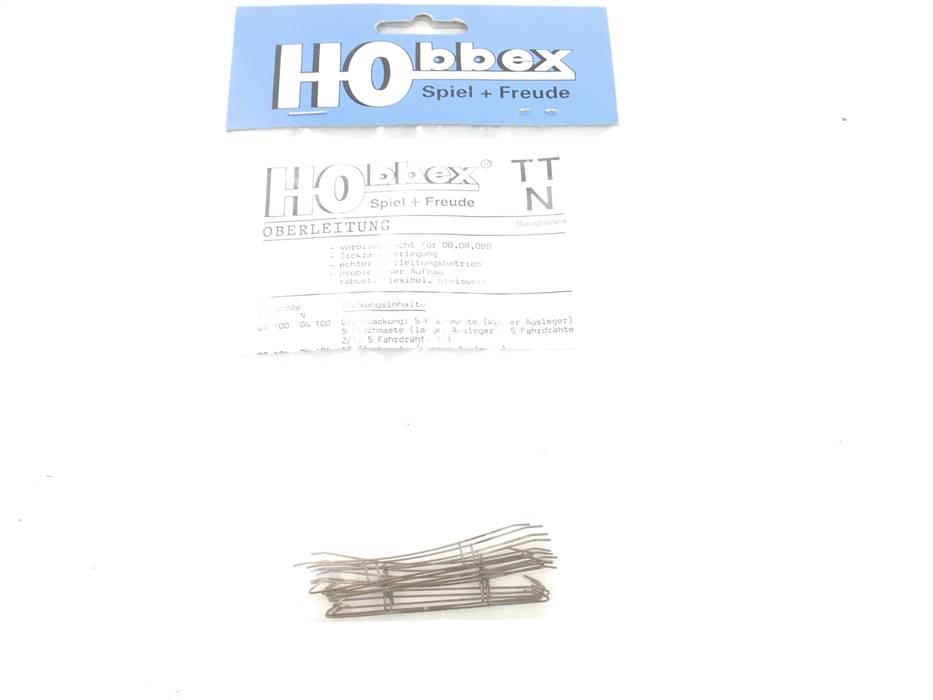 E289rt Hobbex N ON114 10x Oberleitungen Fahrdraht 1/2 55mm