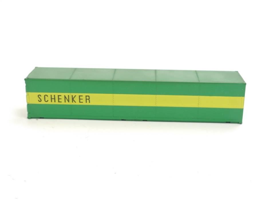 """E169 Roco H0 Ausschmückung Ladegut Ladung 40ft Container """"SCHENKER"""""""