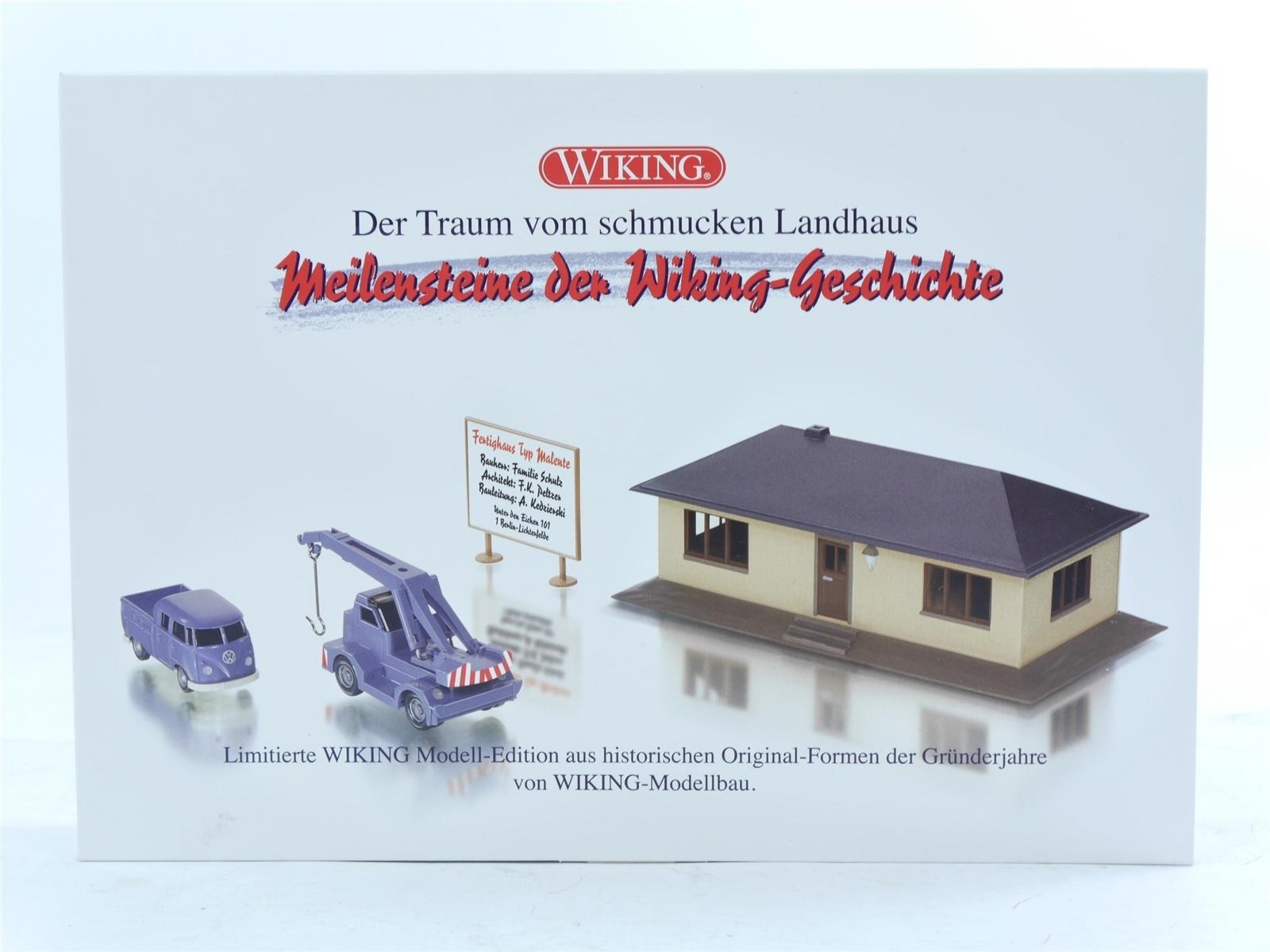 """E188 Wiking H0 0990 85 Modellauto-Set 4-tlg """"Traum vom schmucken Landhaus"""" *TOP*"""