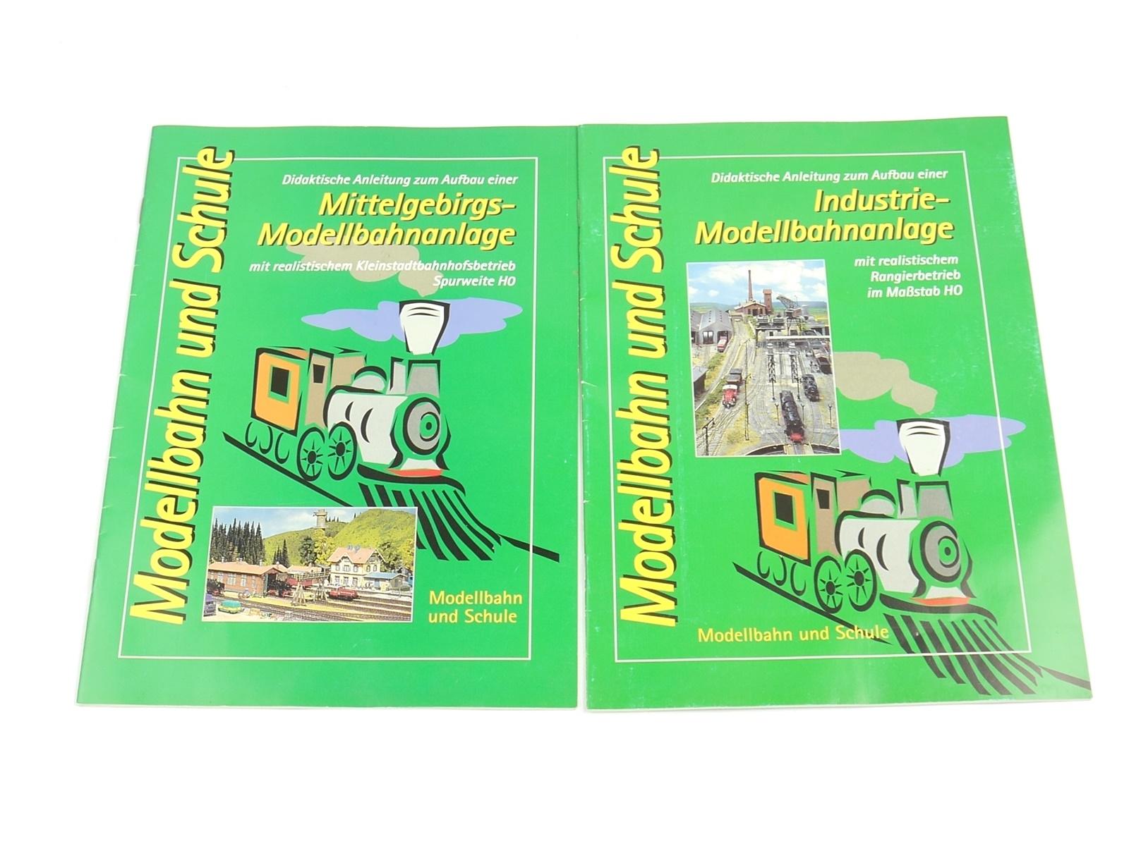"""E202 Modellbahn und Schule 2x Lehrbuch """"Didaktische Anleitung Modellbahnanlage"""