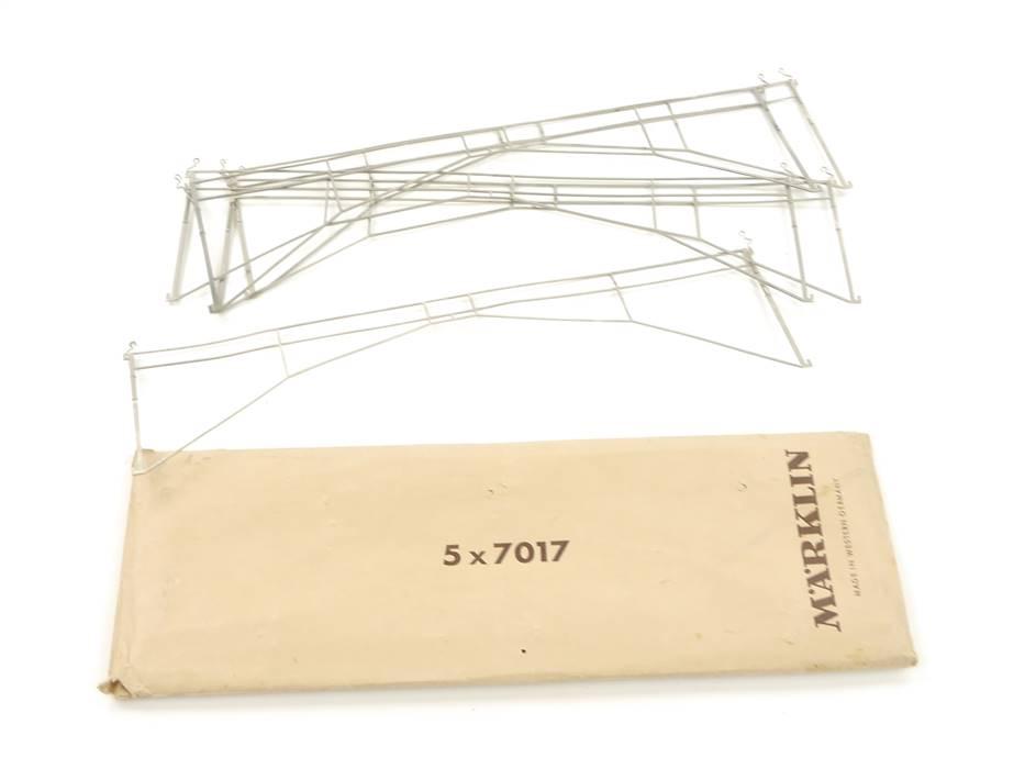 E125 Märklin H0 7017 5x Zubehör Fahrdraht Querverbindung / 280 mm *TOP*
