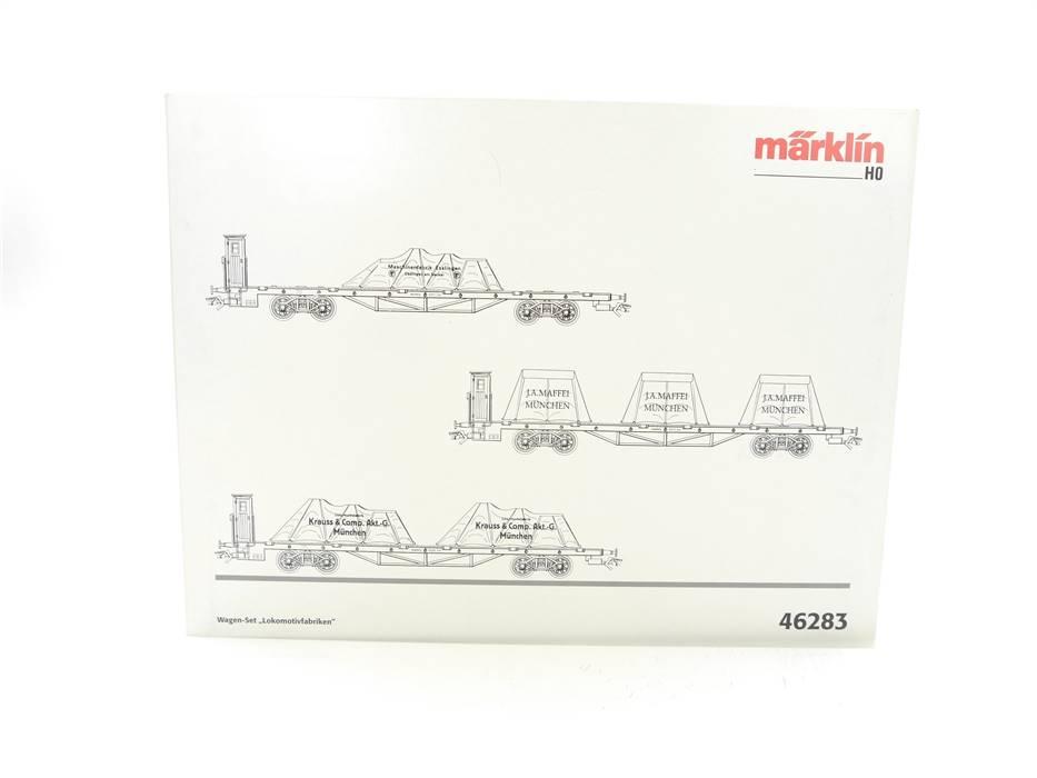 """E332 Märklin H0 46283 Wagenset 3-tlg """"Lokomotivfabriken"""" K.Bay.Sts.B. / DC *TOP*"""