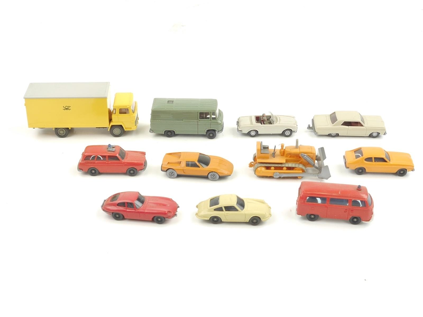 E180 Wiking H0 11x Modellauto PKW LKW Feuerwehr VW MB Ford Porsche etc. 1:87