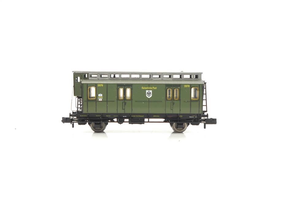 E320 Fleischmann N 8811 Personenwagen Bahnpostwagen 2678 K.P.E.V. *TOP*