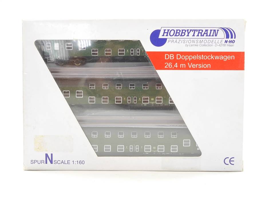 E320 Hobbytrain N H22040 Personenwagen-Set 3-tlg. Doppelstockwagen DB *TOP*