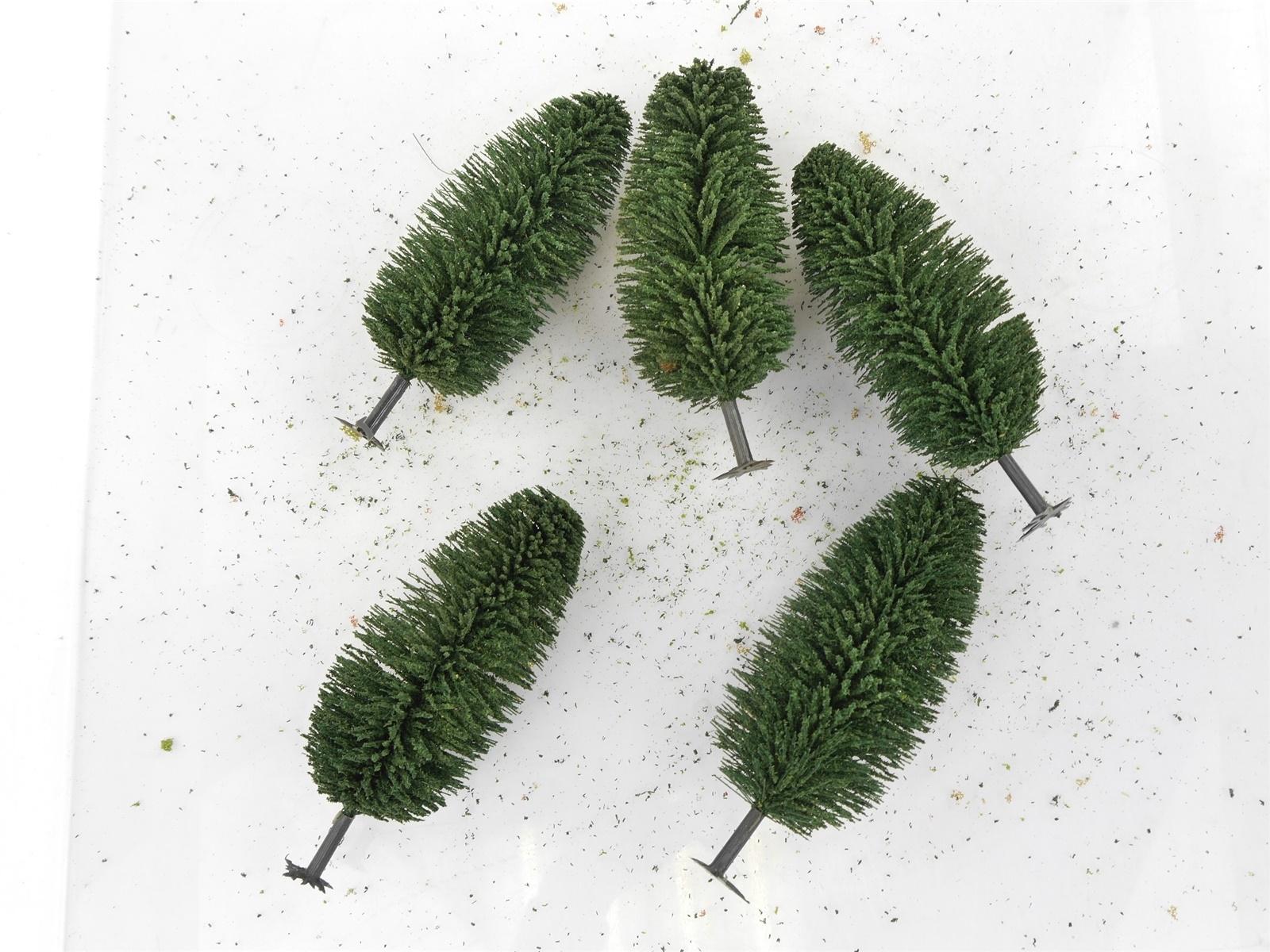 E122 H0 5x Landschaftsbau Bäume Nadelbäume mit Fuß / ca. 14,5 cm