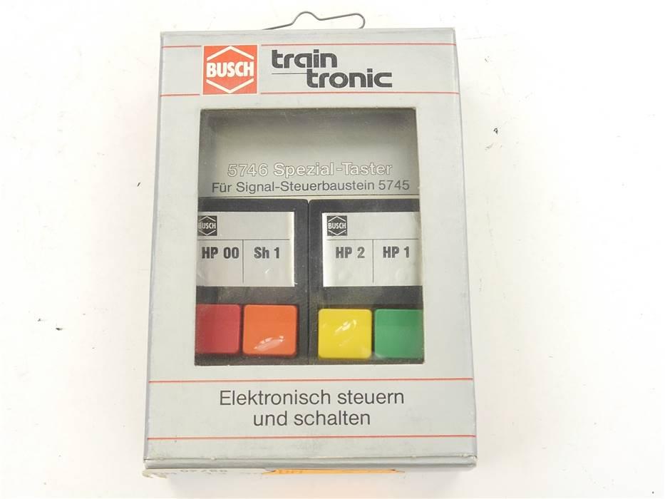 E169 Busch Train Tronic 5746 Steuerung Spezial Taster für Signal Steuerbaustein