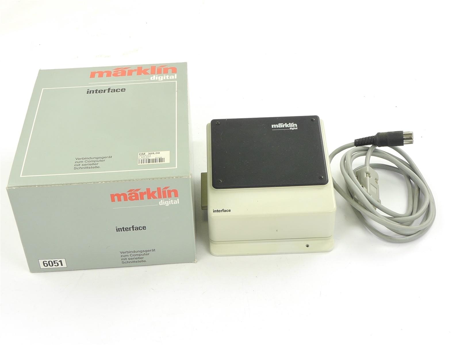 E132 Märklin 6051 Interface Verbindungsgerät zum PC Computer mit Kabel