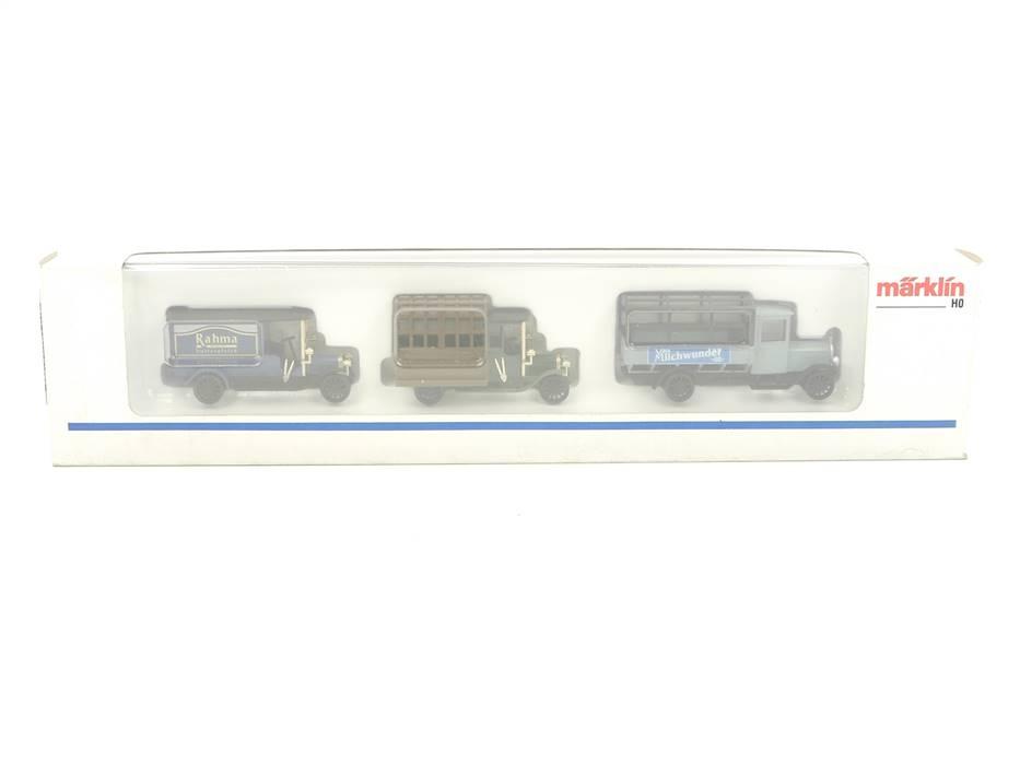 E332 Märklin H0 1884 Modellauto-Set 3-tlg. Oldtimer LKW Lastwagen 1:87 *TOP*