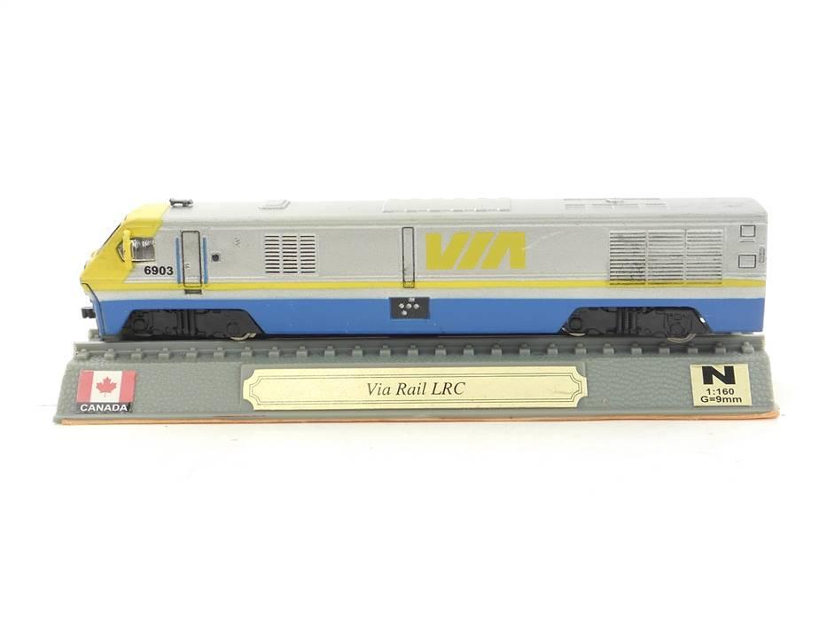 E296 Del Prado N Standmodell Diesellok Via Rail LRC Canada