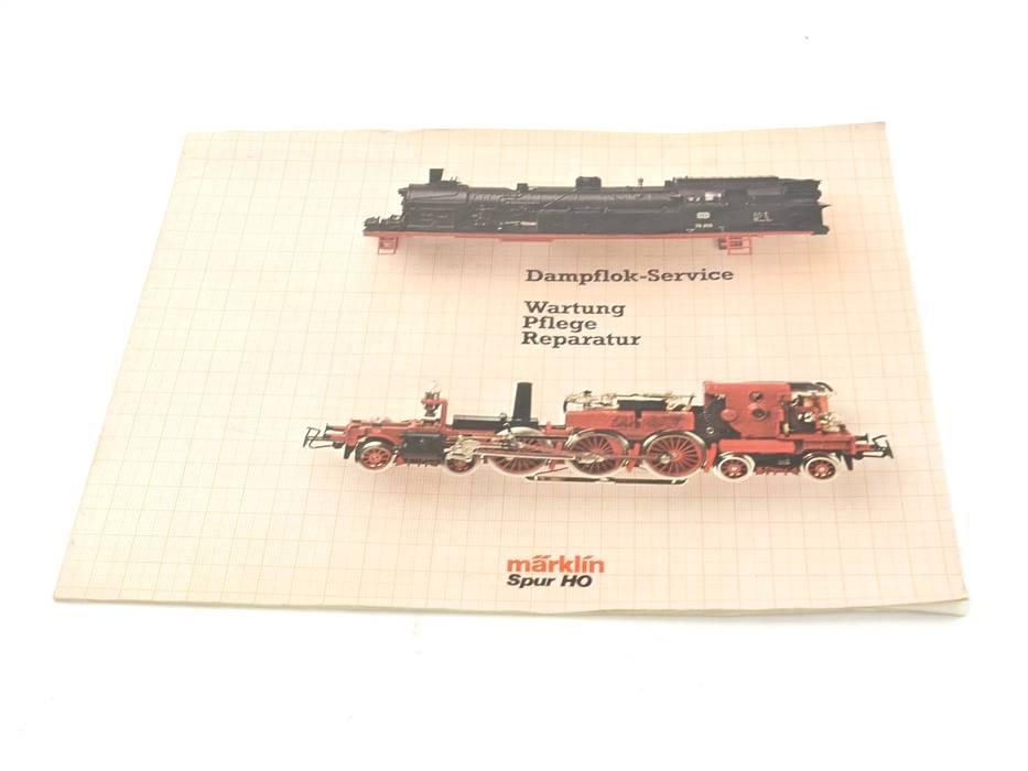 """E302 Ratgeber Märklin Dampflok-Service """"Wartung Pflege Reparatur"""" von 1981"""