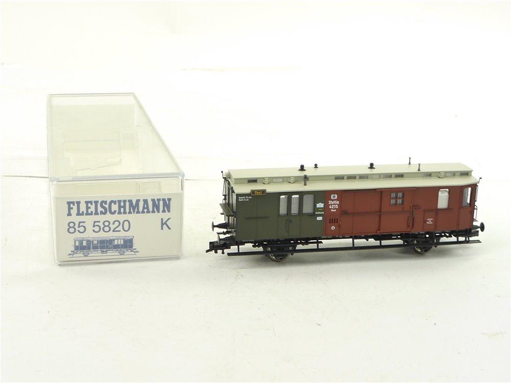 E260 Fleischmann H0 85 5820K Personenwagen Postwagen K.P.E.V. / NEM *unbespielt*