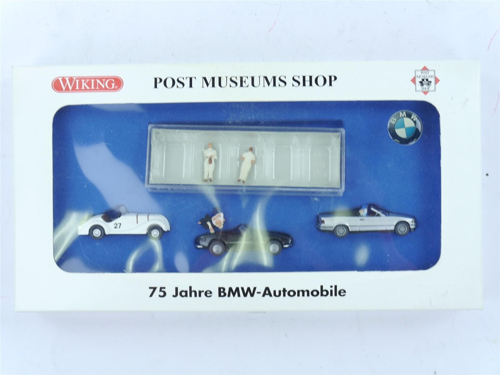 "E188 Wiking H0 PMS 81-25 Modellauto-Set 4-tlg. ""75 Jahre BMW-Automobile"" *TOP*"
