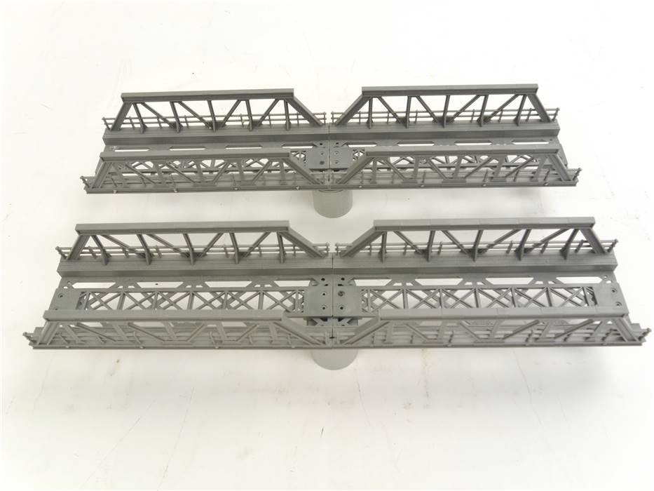 E322 Noch H0 21330 2x Brücke Vorflutbrücke mit Pfeilern / ca. 36 cm lang
