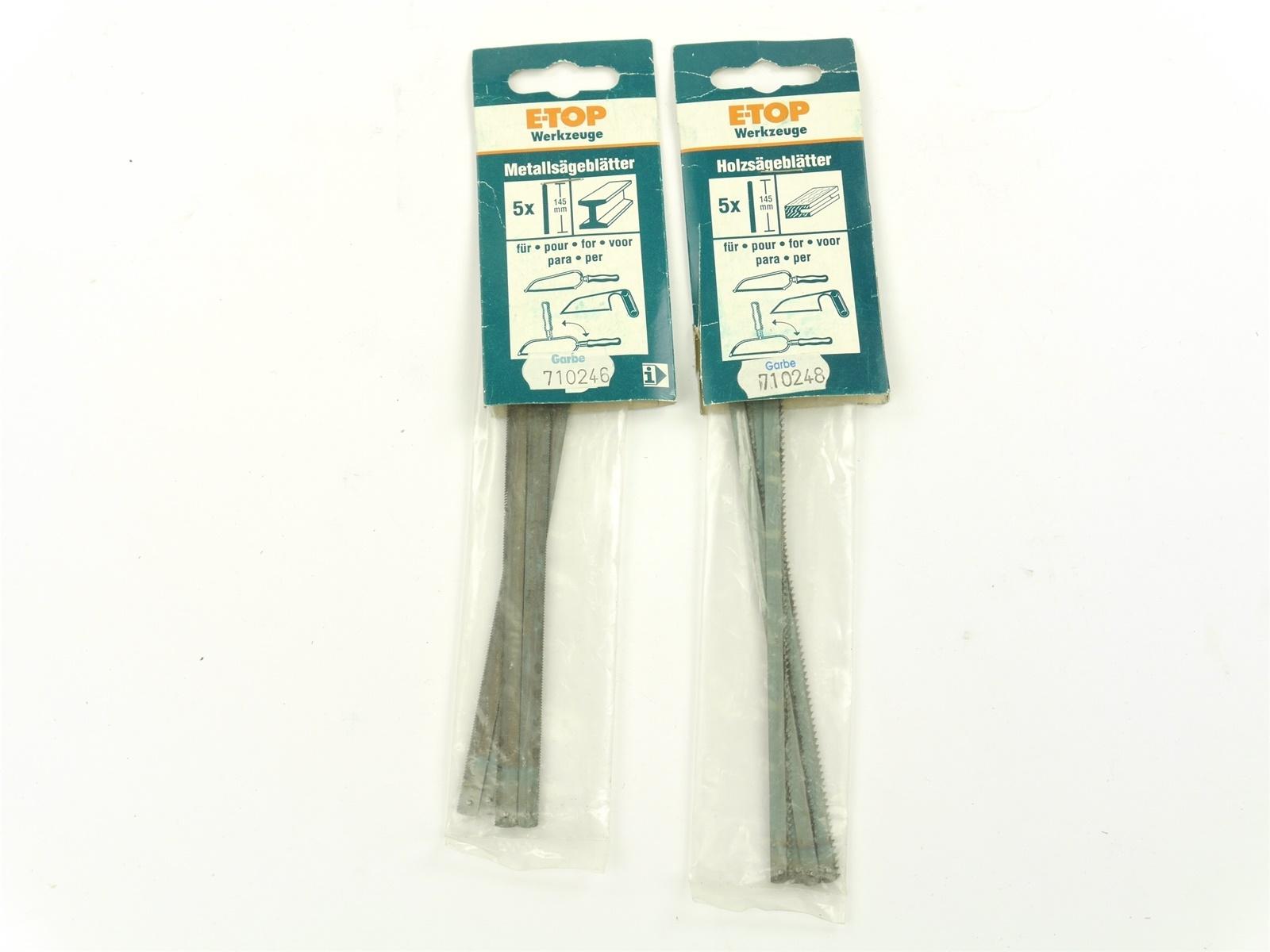 E135 E-Top 2x Werkzeug-Zubehör Metallsägeblätter Holzsägeblätter