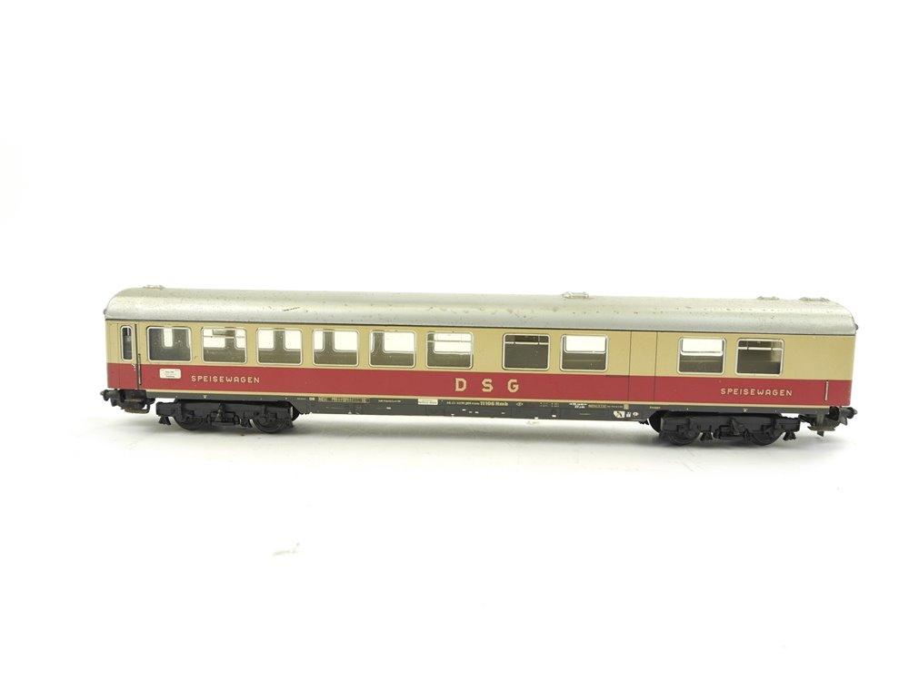 E254 Märklin H0 4057 Personenwagen Speisewagen 11106 Hmb DSG