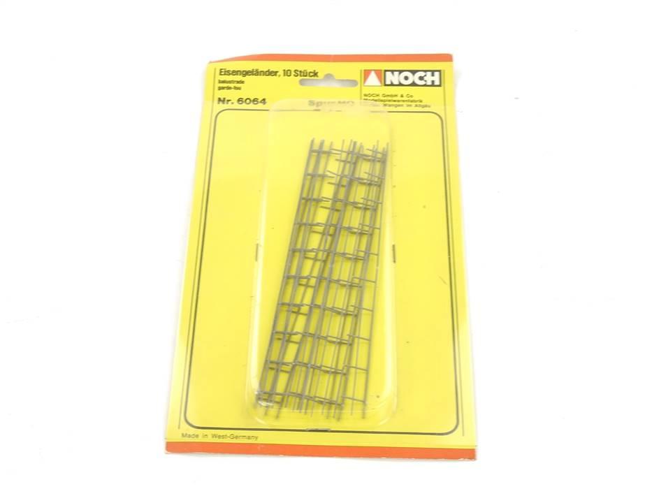 E161 Noch H0 6064 Ausgestaltung 10x Geländer Eisengeländer Balustrade *NEU*