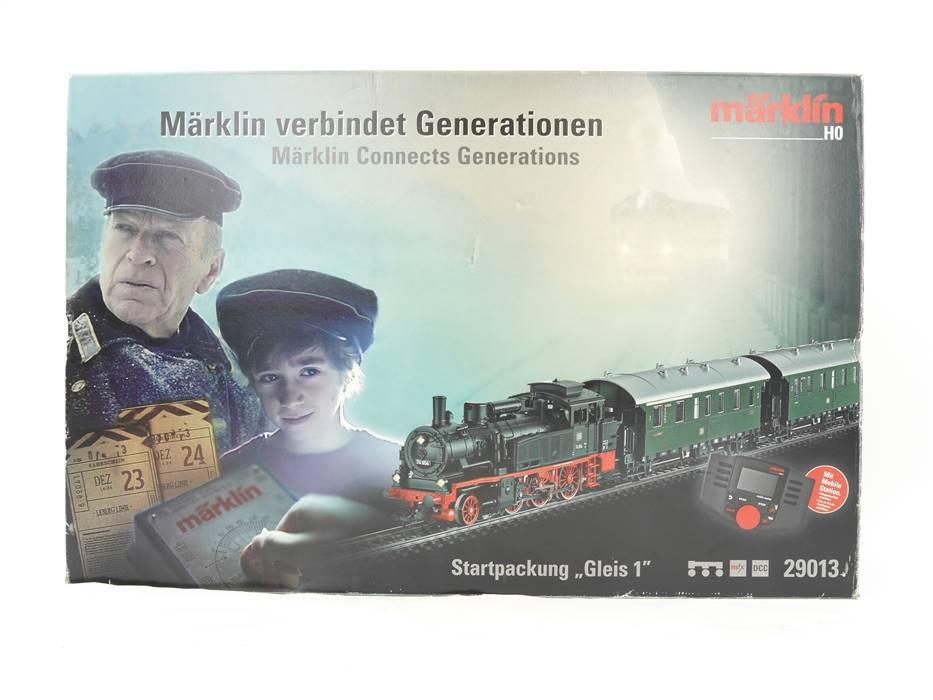"E324 Märklin H0 29013 Startset mit Dampflok ""Gleis 1"" BR 74 mfx DCC"