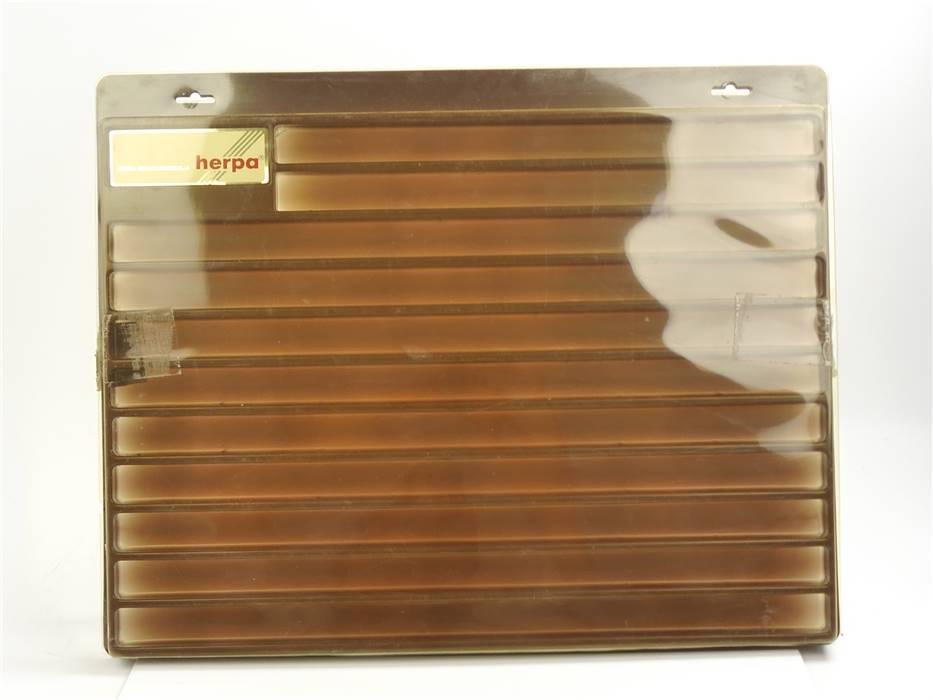 E339 Herpa H0 Vitrine Schaukasten für Modellautos Waggons etc. / ca. 57x46x4 cm