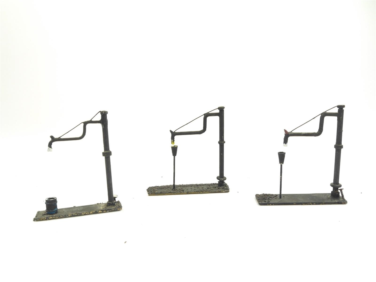 E134 H0 Ausgestaltung Ausschmückung 3x Wasserkran aus Metall