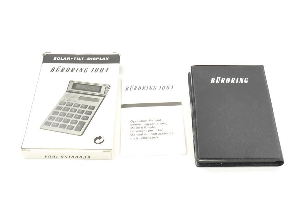 E169 Büroring 1004 Taschenrechner Dualpower Solar Batterie