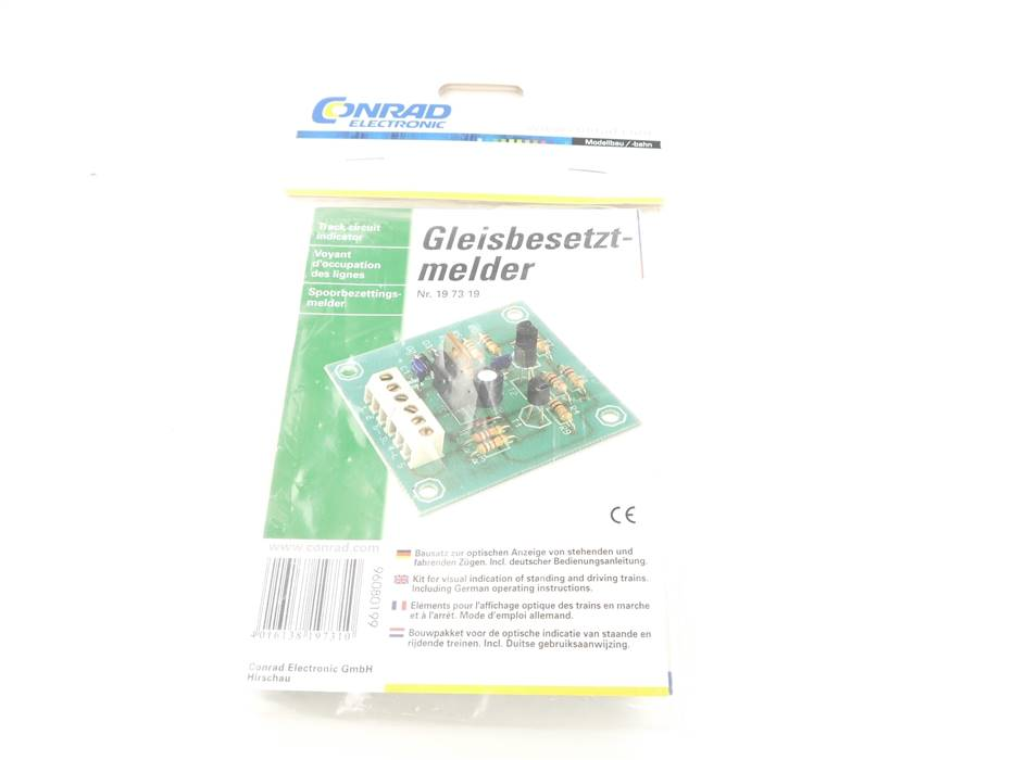 E307 Conrad Electronic 19 73 19 Bausatz Gleisbesetztmelder *NEU*
