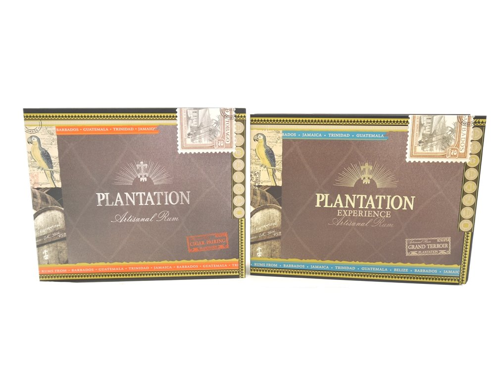 "E270 2x Karton Schachtel Box Geschenkverpackung ""Plantation Experience Rum"