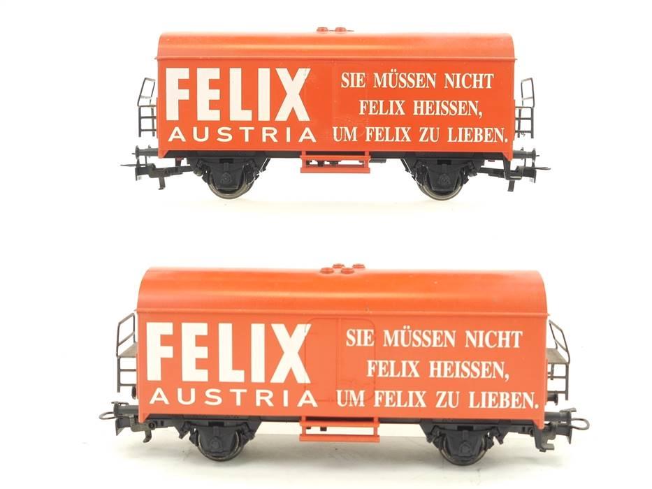"""E269 Märklin H0 2x Güterwagen Kühlwagen """"Felix Austria"""" ÖBB"""