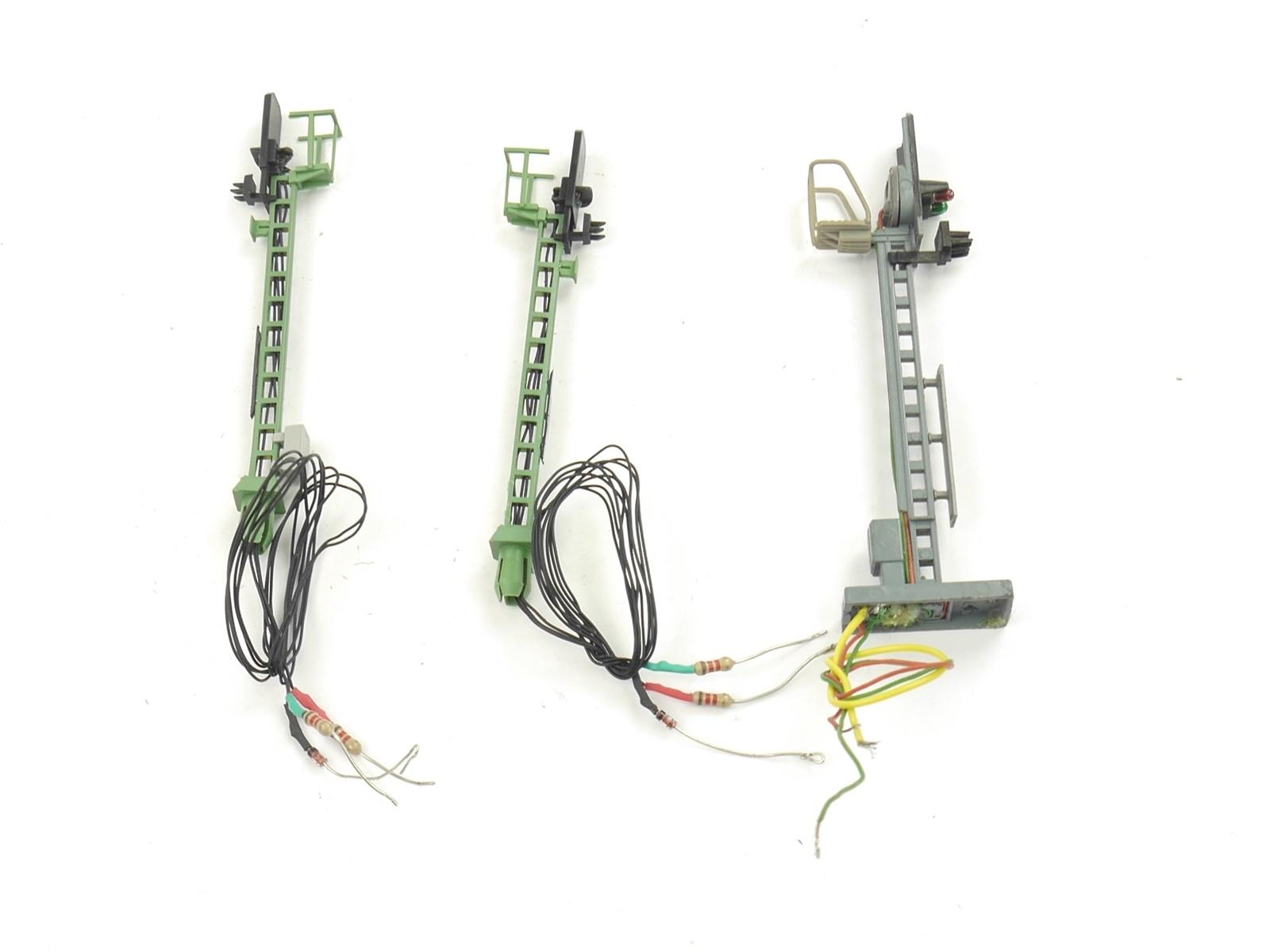 E134 Viessmann Trix H0 11/1406 3x Signal Licht-Blocksignal