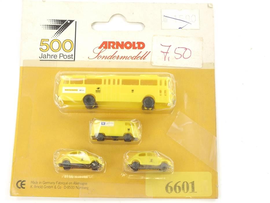 """E289 Arnold N 6601 Modellautoset 4-tlg. PKW Bus """"500 Jahre Post"""" 1:160 *TOP*"""