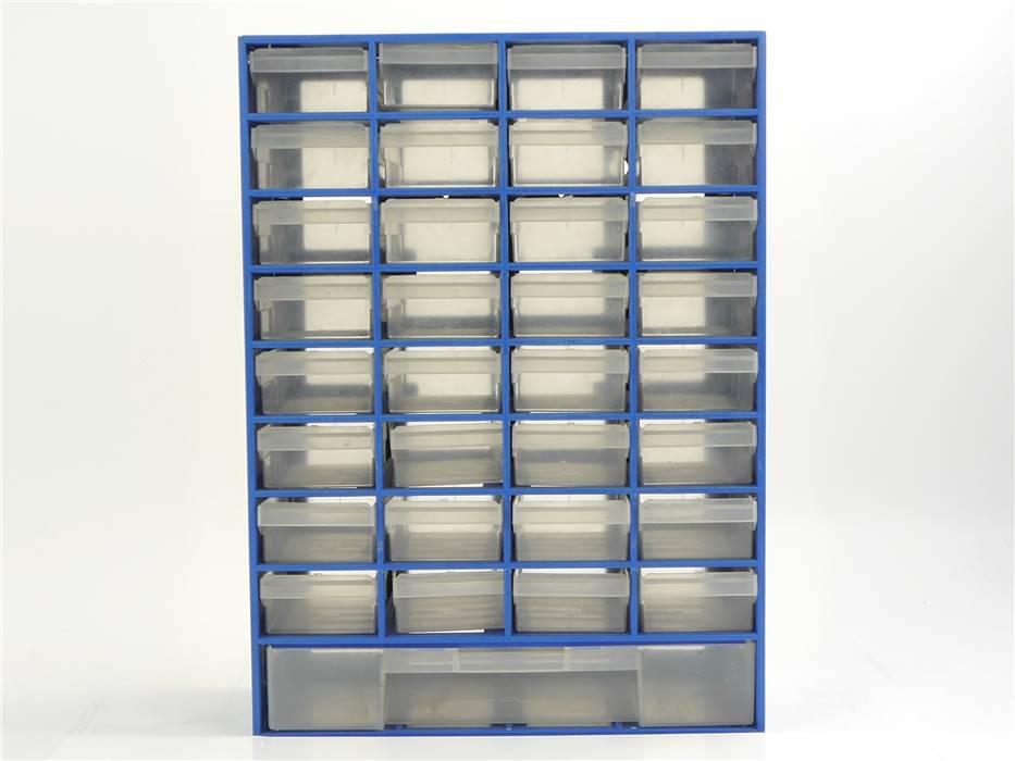 E316 Kleinteilemagazin Sortimentkasten mit Schubladen / 30,4 x 13,6 x 41,3 cm
