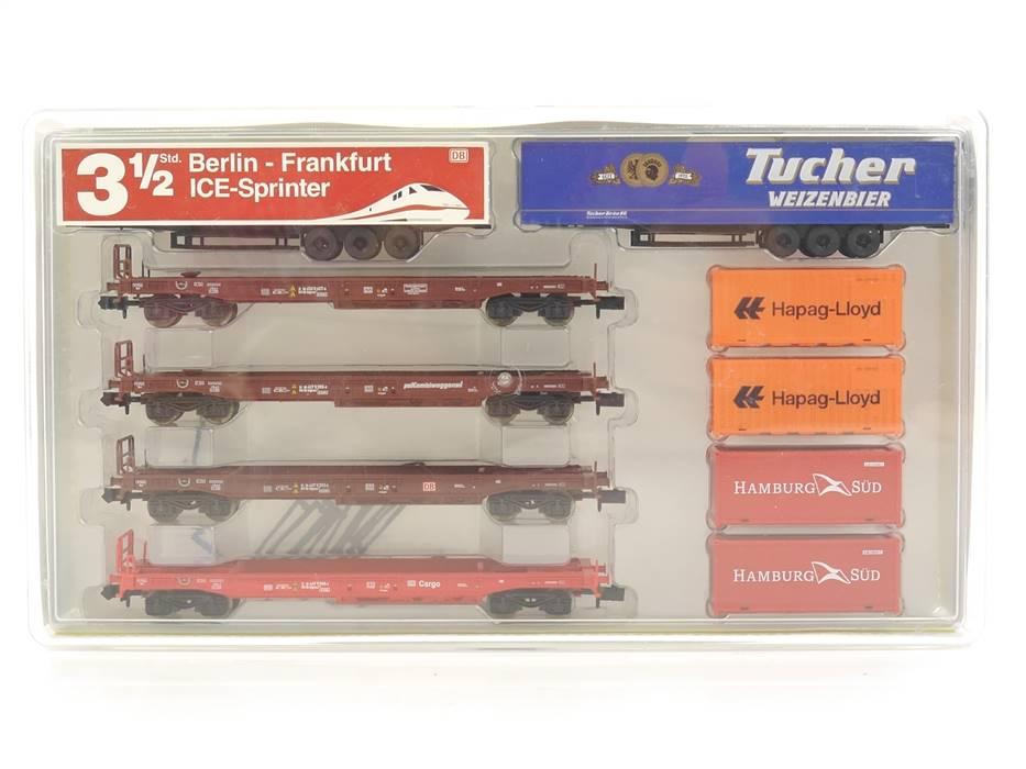 E330 Minitrix N 15043 Güterwagenset 10-tlg. Taschenwagen DB / NEM *TOP*