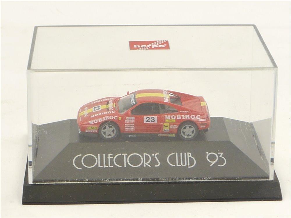 """E145 Herpa H0 Modellauto Ferrari 348 TB """"Collector's Club 93"""" 1:87 *TOP*"""