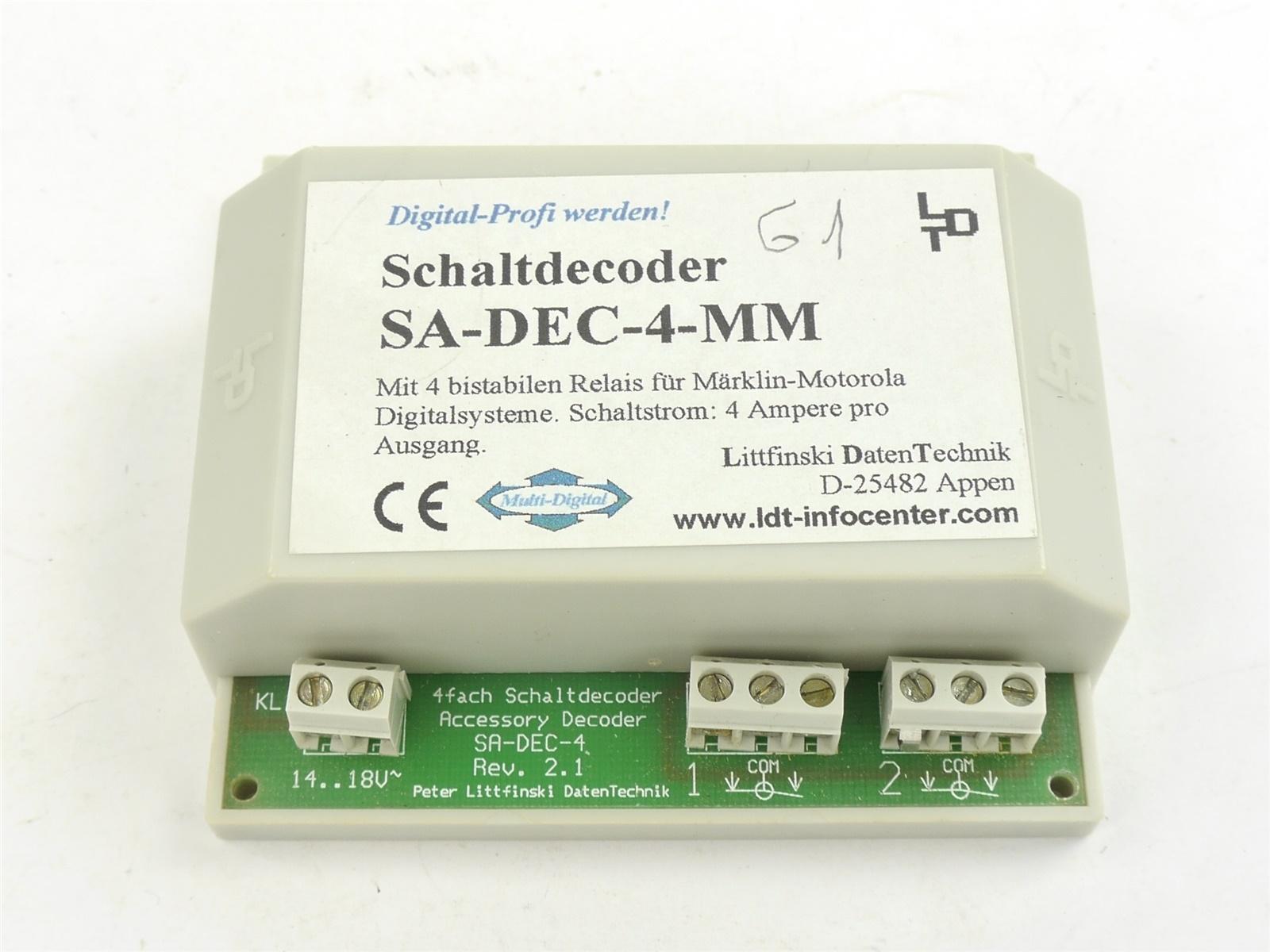 E132 Littfinski LDT SA-DEC-4-MM Zubehör Schaltdecoder für Märklin Motorola