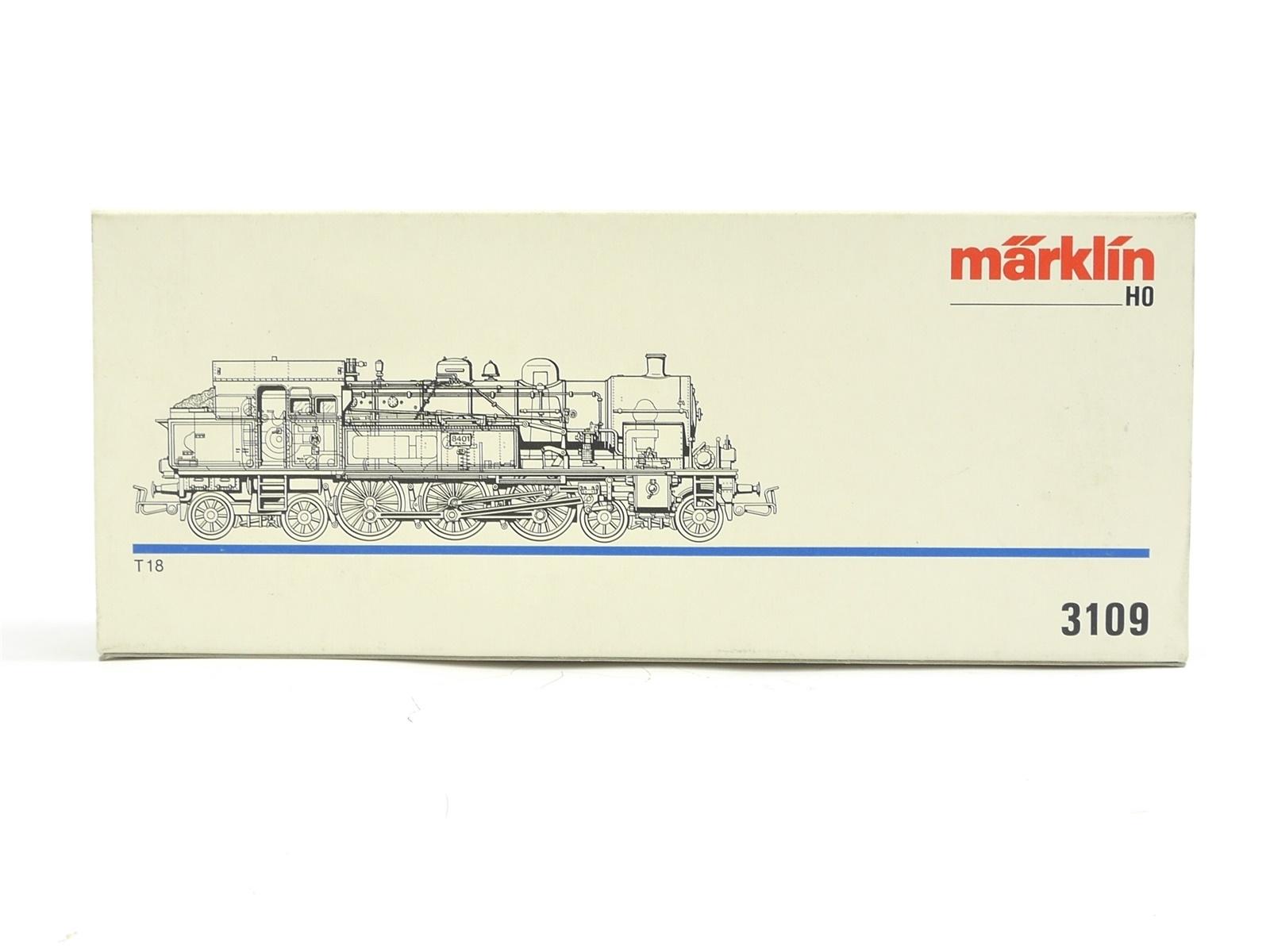 E116 Märklin H0 3109 Leerverpackung Leerkarton OVP für Dampflok BR T18