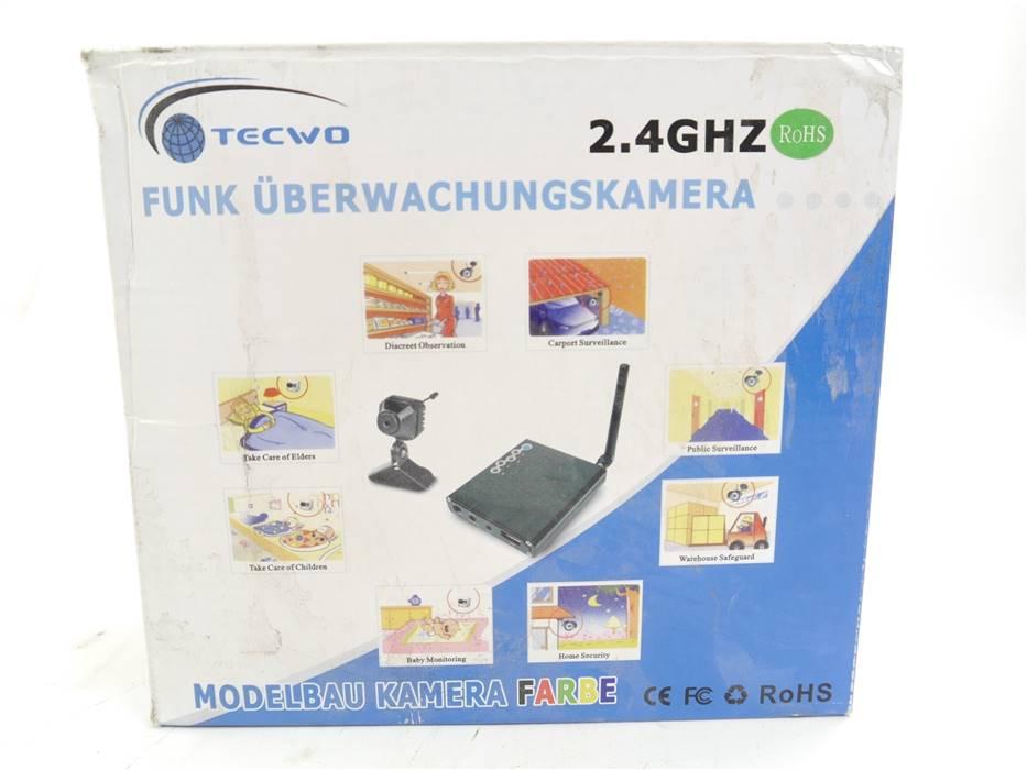 E322b Tecwo 811 Funk Überwachungskamera inkl. Mikro 2.4 GHz / PAL