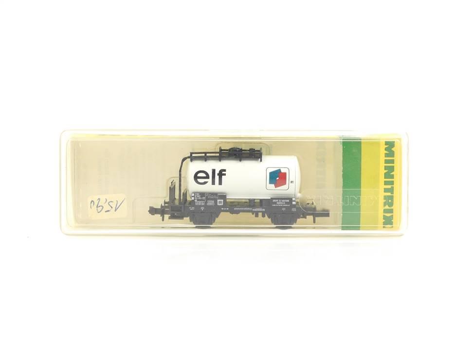 """E339 Minitrix N 3547 Güterwagen Kesselwagen """"elf"""" 004 1 815-3 SNCF *TOP*"""